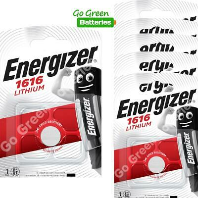 6 x Energizer 1616 CR1616 3V Lithium Coin Cell Battery DL1616 KCR1616, BR1616