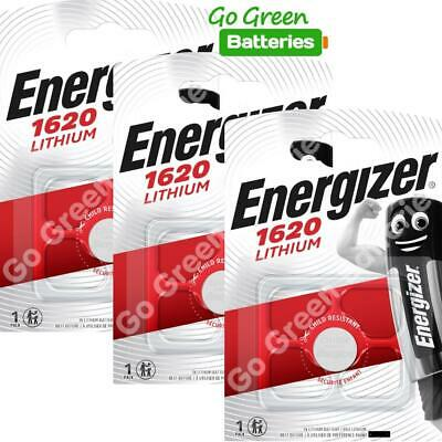 3 x Energizer 1620 CR1620 3V Lithium Coin Cell Battery DL1620 KCR1620, BR1620