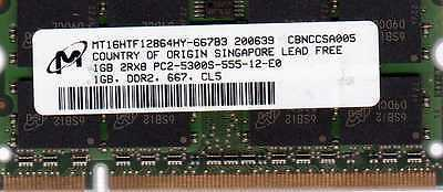 Memory RAM Compatible with Dell XPS M1210 Notebook DDR2 A58 1GB 1x1GB