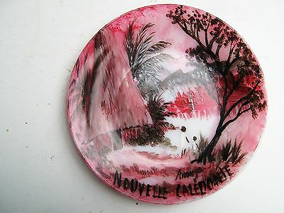 Souvenir   Hand  Painted  Plate  From Nouvelle  Caledonie