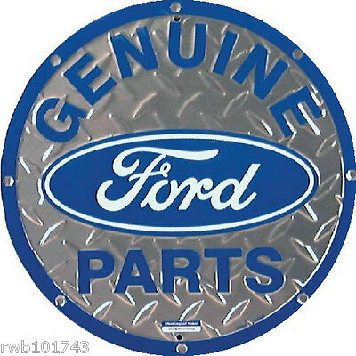 Ford Mustang 40th ROUND TIN SIGN metal vintage auto garage bar wall decor 1206