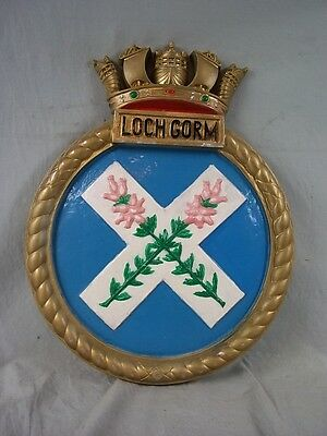 "HMS Loch Gorm (K620) Ships Badge 1944 Loch-class Frigate 18x14"" One Off Casting"