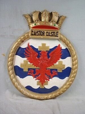 "HMS Caistor Castle (K690) Ships Badge Castle-class 18x14"" One Off Casting"