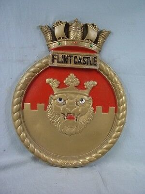 "HMS Flint Castle (K383) Ships Badge 1944 Castle-class 18x14"" One Off Casting"