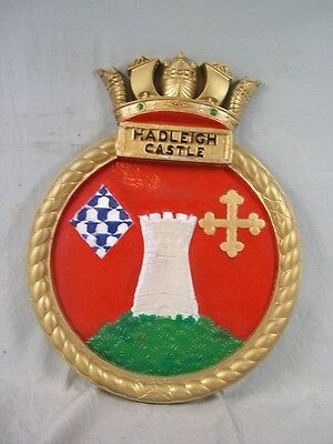 "HMS Hadleigh Castle (K355) Ships Badge 1943 Castle-class 18x14"" One Off Casting"