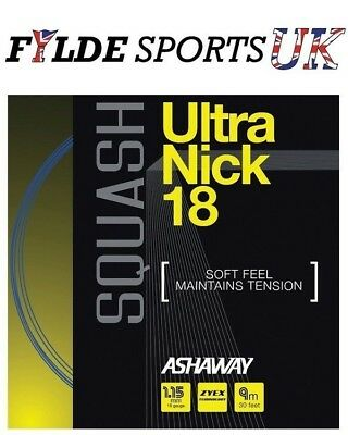 Ashaway UltraNick 18 - Squash String Set 1.15mm Blue