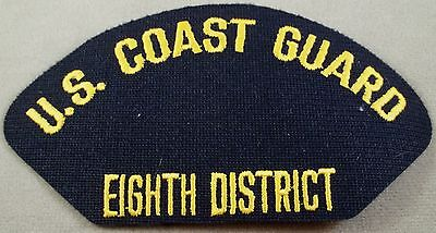 USCG - Coast Guard Eighth District New Orleans Louisiana Cap Patch