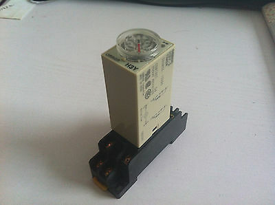 AC 220V H3Y-2 H3Y Delay Timer Time Relay 0-60 Second 60s 60sec 220VAC & Base