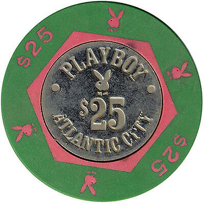 Playboy Club Atlantic City, NJ Coin Inlay $25 Casino Chip Collector Chip *