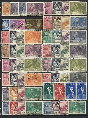 Stamps-1949 Universal Postal Union Complete Used 76 Sets-310 Used Stamps