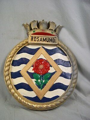 "HMS Rosamund (J 439) Ships Badge Algeriane Class M/S 18 x 14"" One Off Casting"