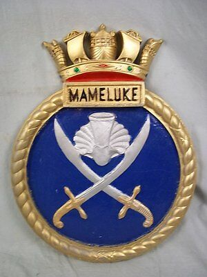 "HMS Mameluke (J 437) Ships Badge, Algerine class M/S 18 x 14"" One Off Casting"