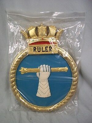 "HMS Ruler (D 72) Ships Badge, Ruler-class Escort 18 x 14"" One Off Casting"
