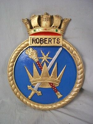 """HMS Roberts, Ships Badge, Roberts-class Monitor 18 x 14"""" One Off Casting"""
