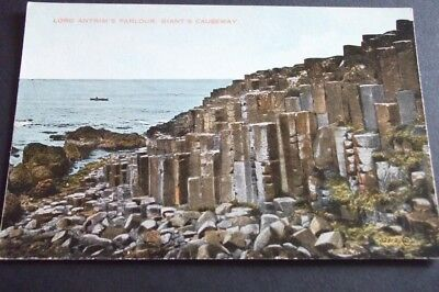 Old Postcard Of Lord Antrim's Parlour, Giant's Causeway