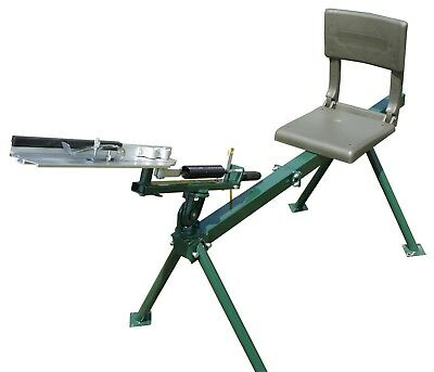Seated Single Arm Full Cock, Clay Pigeon Trap, Thrower + 200 Free Clays