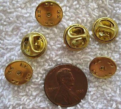 VINTAGE GOLD PLATED 10mm Hat Scarf Clasp Clutch PinBack Pin Back FINDINGS - 3pcs