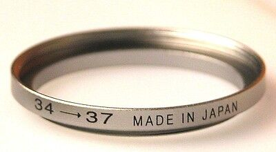 Step-up Metal Stepping Ring 34mm-37mm 34mm Lens to 37mm Filter Hood Cap Japan