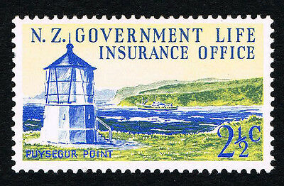 NZ Sc# OY44 2 1/2c Puysegur Pt Lighthouse Gov Life Insurance M VF LH Estate Sale