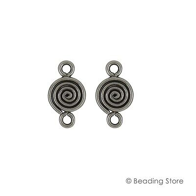 2 x 97-99% Pure Silver 18mm x 10mm Link Connectors Findings Hill Tribe Oxidized