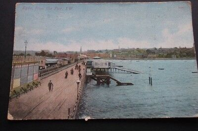 .old Postcard Of Ryde From The Pier Isle Of Wight