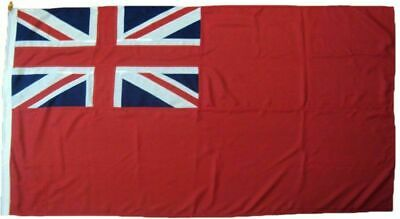 Red Ensign  Sewn Embroidered UK Manufactured MOD Woven Polyester Rope & Toggled