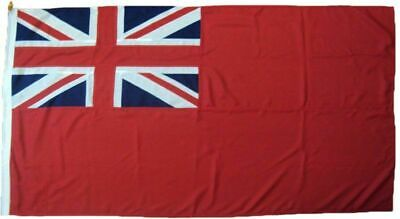 Red Ensign  sewn Embriodered UK Manufactured MOD Woven Polyester Rope & Toggled