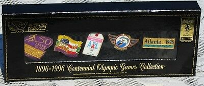 Authentic 1896-1996 Centennial Olympic Games Pin Collection - Atlanta 1996 - NEW