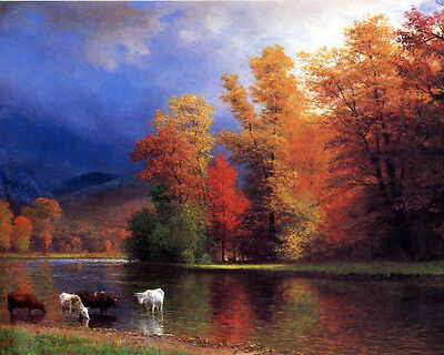 Bierstadt On The Saco - Print Canvas Giclee Art Repro 8X10