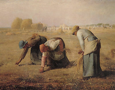 Millet The Gleaners - Print Canvas Giclee Art Repro 11X14
