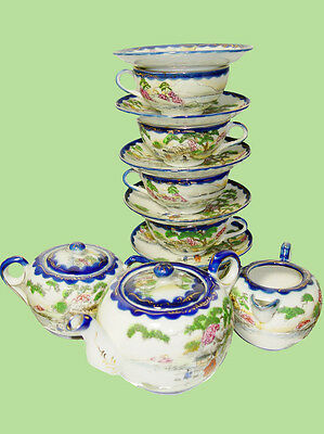 Fine China Vintage Hand Painted Tea Set  Made in Japan