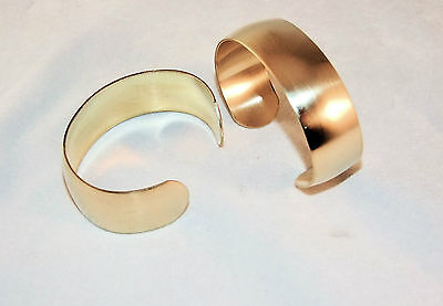 "Brass Bracelet Cuff Blanks Wholesale Lot 3/4"" Domed Pkg Of 12"