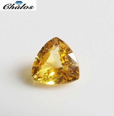 1x Safir - Trillion Gelb facettiert 5x5mm (1388D)
