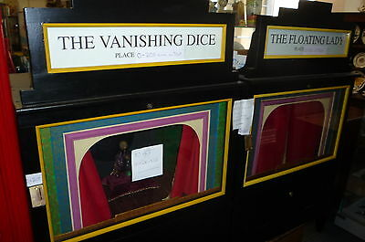 THE FLOATING LADY & VANISHING DICE working models Coin operated Machines