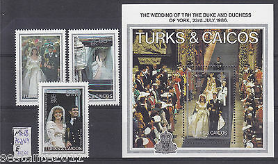 Turks & Caicos Y. 762 / 764 + Bl 68, Wedding Of Duke Of York,  Mnh** B88