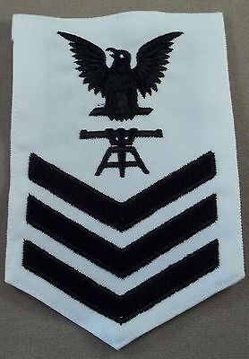 US Navy Petty Officer 1st Class Fire Control Technician White Cotton Rate