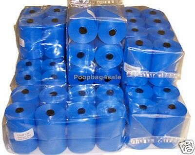 780 Pet Dog Waste Pick Up Poop Bags With Thickness 14-16 Microns Blue Refills