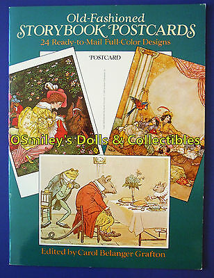 OLD-FASHIONED STORYBOOK POSTCARDS 1985 Full Color/Ready Mail CAROL GRAFTON_UNCUT