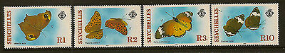 SEYCHELLES : 1987 Butterflies set SG 659-62 unmounted mint