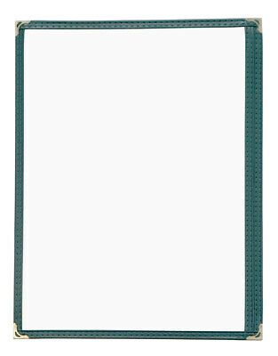"""Pack of 50 High Quality Restaurant Menu Covers 8.5""""x11"""" Single Page, Green, 1GR"""
