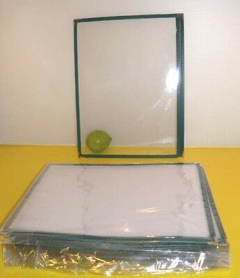 "25pcs High Quality Restaurant Menu Covers 8.5""x11"", Single Page, Green 1GR"