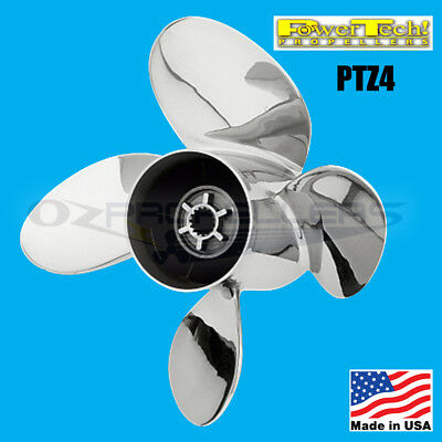 Mercury Stainless Steel Propeller Prop 4 Blade 90-300HP* Power Tech Brand*