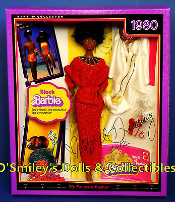 MY FAVORITE 1980 BLACK BARBIE~Vintage AA Steffie Repro SIGNED Barbie_R4468_NRFB