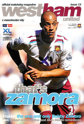 WEST HAM UNITED v MANCHESTER CITY 5 Jan 2008 FOOTBALL PROGRAMME FA CUP ROUND 3