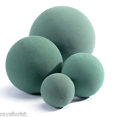 Oasis Ideal Foam Spheres for Fresh Flowers Wet Foam Ball Several Sizes Available
