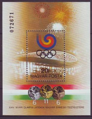 HUNGARY - 1988. Hungarian Medals at Seoul Olymp S/S-MNH