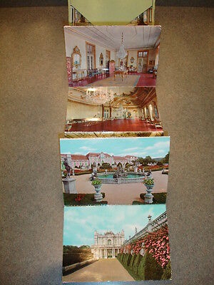 Old Vtg Antique Collectible Pack Of Postcards Of Places In Portugal W/ Case