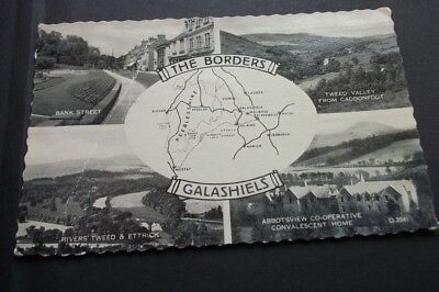 Old Postcard Of The Borders Galashiels