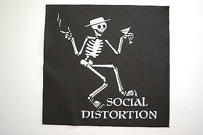 Social Distortion Backpatch (BP52) Punk Rock Back Patch Mike Ness Cramps X