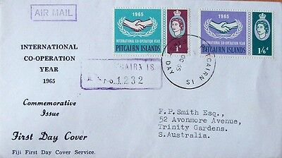 Pitcairn Island  First Day Cover-Internation Co-Operation Year Dated 25 Oct 1965